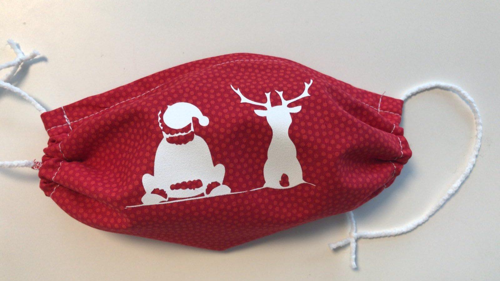 Gesichtsmasken Erwachsene – Rot Weihnachten Ruhe