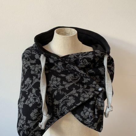 Sweatshirt-Schal – grau/schwarz