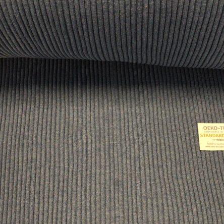 Bündchen – Blau Grau Streifen Breite 33cm doppelt, gerippt