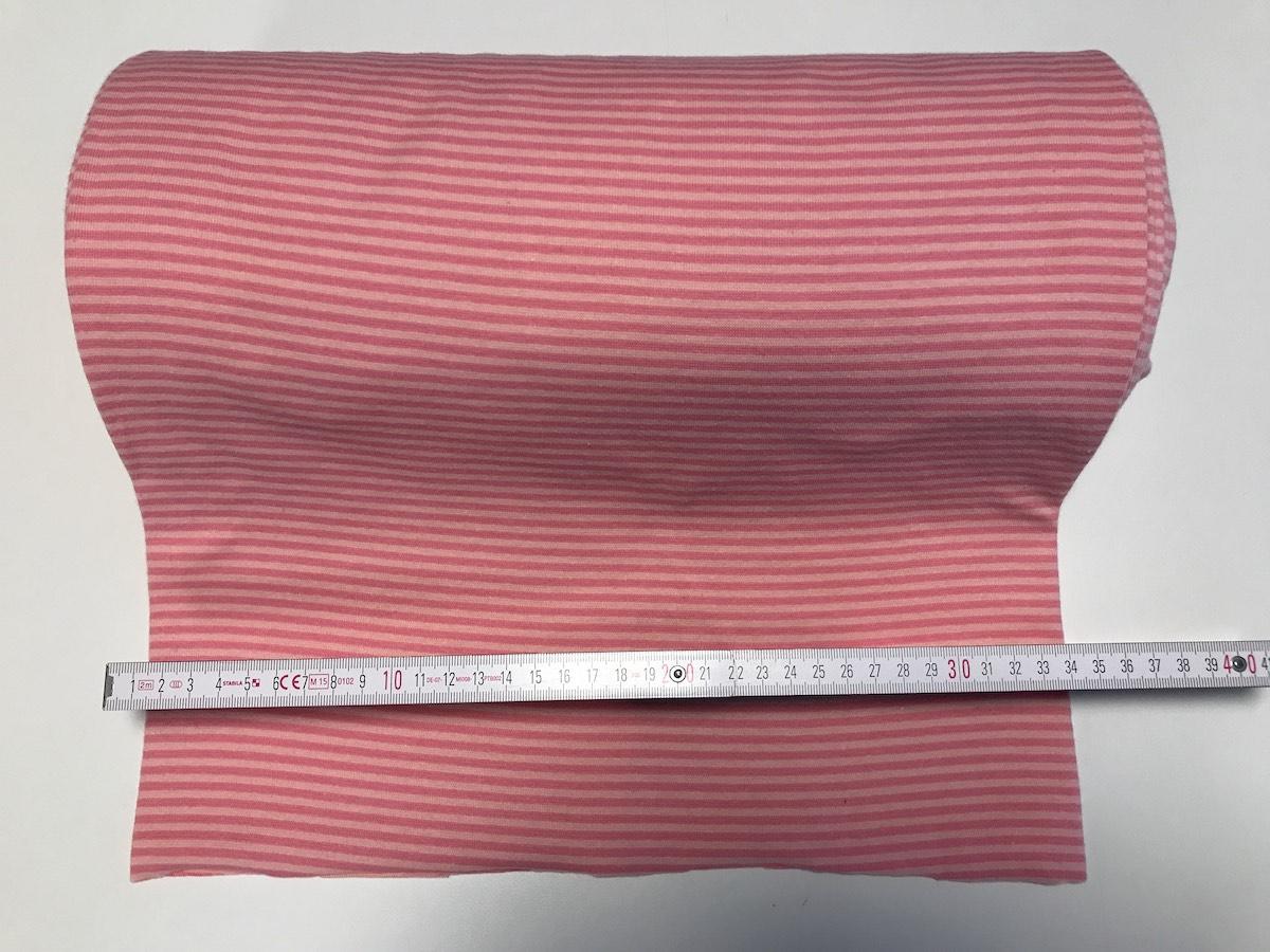 Bündchen – Pink Streifen Breite 33cm doppelt, glatt