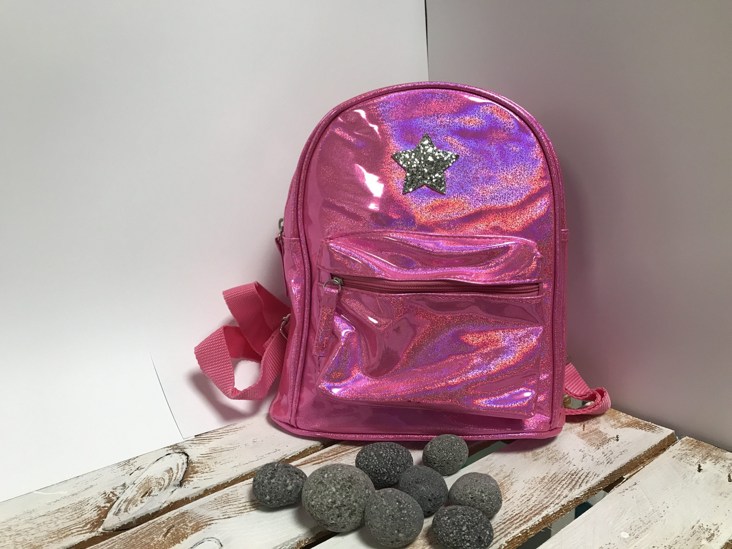 Kinderrucksack – Mädchen Pink Glitzer