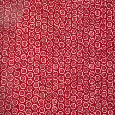 Stoffrest – rot mit Blumen – 1,5m x 1,5m