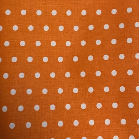 Stoffrest – orange mit Punkten – 1,5m x 1,3m
